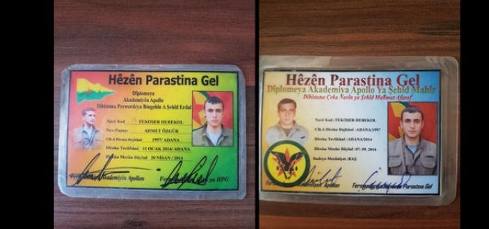 Diyarbakır'da askerleri gören teröristler silahlarını bırakıp kaçtı